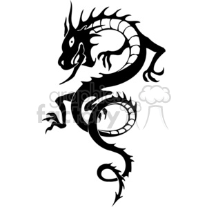 chinese dragons 022 clipart. Royalty-free image # 383852