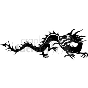 chinese dragons 016 clipart. Royalty-free image # 383857