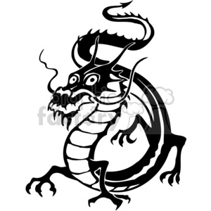 chinese dragons 013 clipart. Royalty-free image # 383872