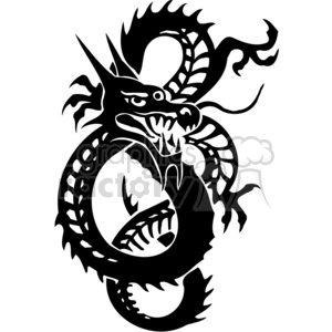 chinese dragons 018 clipart. Commercial use image # 383877