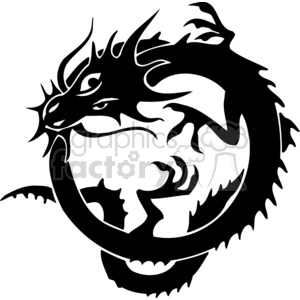 chinese dragons 029 clipart. Royalty-free image # 383882