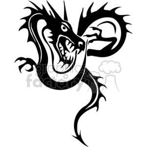 Chinese dragons  tattoos clipart. Royalty-free image # 383887