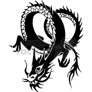 chinese dragons 043 clipart. Royalty-free image # 383892