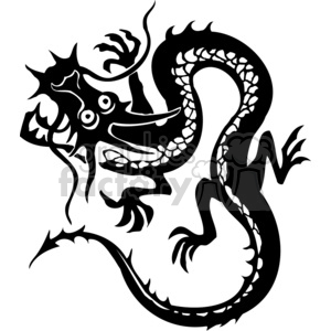 chinese dragon tattoo design clipart. Commercial use image # 383897