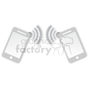 cell phone data transfer clipart. Royalty-free image # 383905