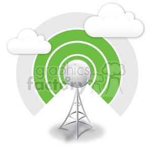 wireless antenna 3 bar signal clipart. Commercial use image # 383920