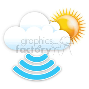 the clouds digital rain clipart. Royalty-free image # 383925