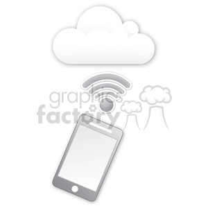 mobile-cloud-data clipart. Royalty-free image # 383930