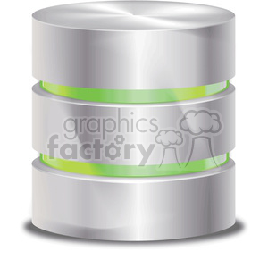 database-symbol-green clipart. Royalty-free image # 383945