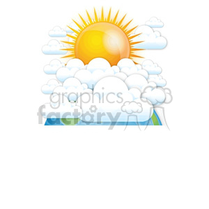 cloudy day on Earth clipart. Royalty-free image # 383950