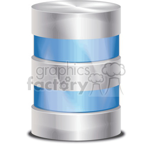database-icon-blue clipart. Royalty-free image # 383955