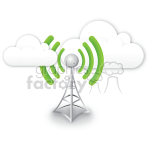cell tower a good signal clipart. Commercial use image # 383965