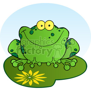 102493-Cartoon-Clipart-Happy-Frog-Cartoon-Character clipart. Royalty-free image # 384010