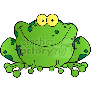 102492-Cartoon-Clipart-Happy-Frog-Cartoon-Character clipart. Royalty-free image # 384045