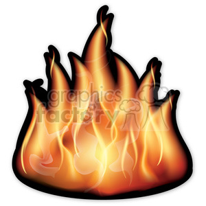 vector fire animation. Royalty-free animation # 384105