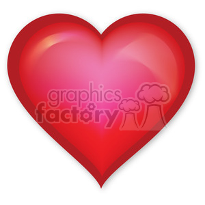 big red heart clipart. Commercial use image # 384110