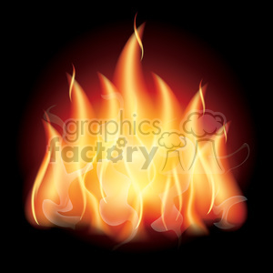 realistic RG vector clipart flaming fire flames hot burning burn fireball bonfire