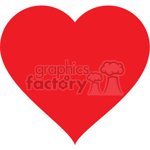 red heart clipart. Commercial use image # 384125