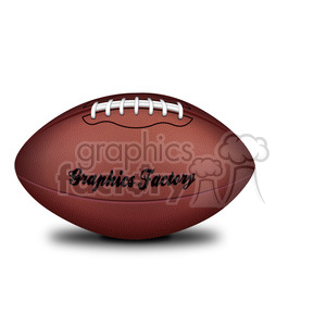 realistic RG vector clipart football sports