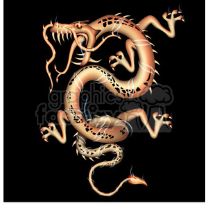 dragon facing left clipart. Commercial use image # 384134