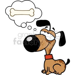 little-dog-dreaming clipart. Royalty-free image # 384195