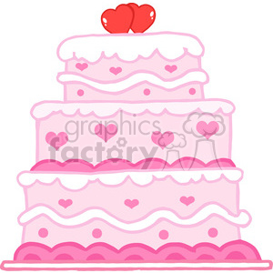 cartoon-Valentines-day-cake clipart. Royalty-free image # 384245