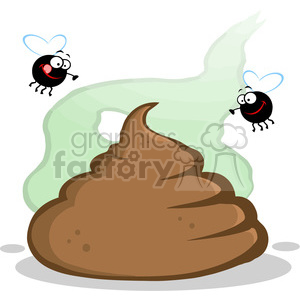 flys-and-poo clipart. Royalty-free image # 384260