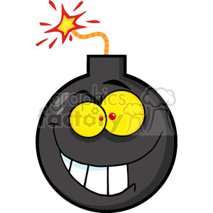 angry-cartoon-bomb-character clipart. Commercial use image # 384265