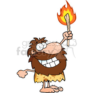 happy-little-caveman clipart. Royalty-free image # 384275