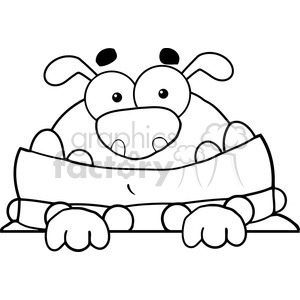 funny-cartoon-dog clipart. Royalty-free image # 384280