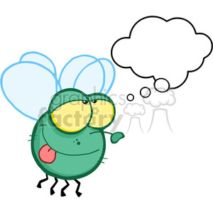 cartoon-fly-dreaming clipart. Royalty-free image # 384285