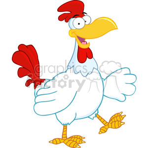 cartoon-chicken-character clipart. Royalty-free image # 384303