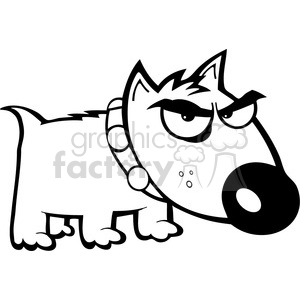 black white angry dog clipart. Royalty-free image # 384343