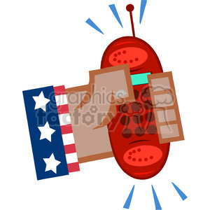 cartoon-cell-phone-usa clipart. Royalty-free image # 384353