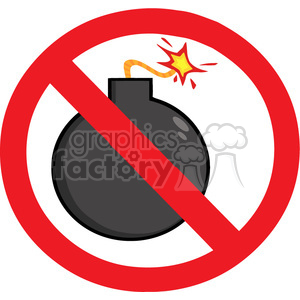 cartoon-no-bombs-allowed clipart. Royalty-free image # 384363