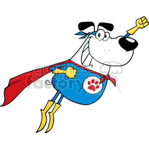 superdog-hero clipart. Royalty-free image # 384368
