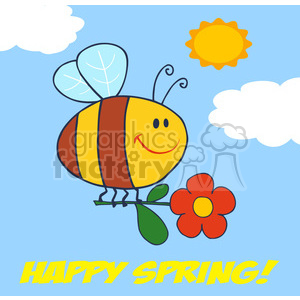 Royalty-Free-RF-Copyright-Safe-Happy-Spring-Greeting clipart. Royalty-free image # 384393