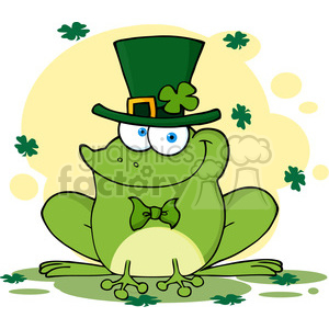 4678-Royalty-Free-RF-Copyright-Safe-Happy-Leprechaun-Frog clipart. Commercial use image # 384408