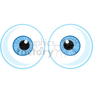 Royalty-Free-RF-Copyright-Safe-Two-Blue-Eye-Ball clipart. Royalty-free image # 384418