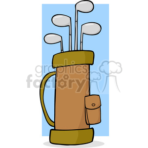 4703-Royalty-Free-RF-Copyright-Safe-Golf-Bag clipart. Royalty-free image # 384458