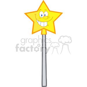 4691-Royalty-Free-RF-Copyright-Safe-Wizard-Magic-Wand-Cartoon-Character clipart. Royalty-free image # 384463