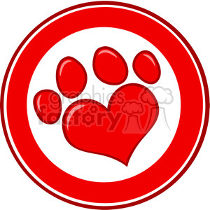 Royalty-Free-RF-Copyright-Safe-Love-Paw-Print-Banner clipart. Royalty-free image # 384478