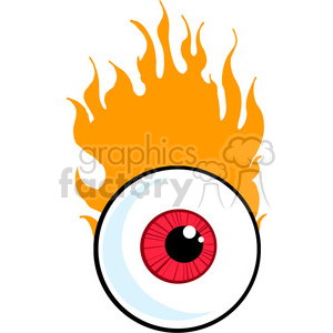 cartoon funny silly drawing draw illustration comical comics eye flaming fireball eyeball eye eyes fire redeye