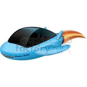 spaceship travel space jet UFO RG transportation travel blue cartoon airplane