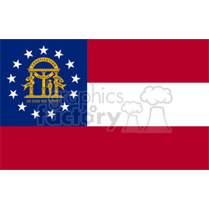 vector state Flag of Georgia clipart. Royalty-free image # 384557