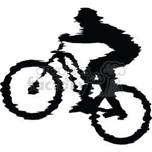 mountain-bike-rider clipart. Commercial use icon # 384562