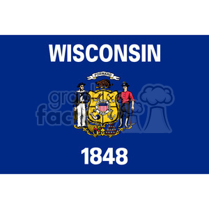 vector state Flag of Wisconsin clipart. Royalty-free image # 384567