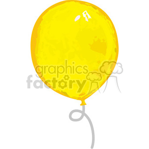 yellow balloon clipart. Royalty-free image # 384572