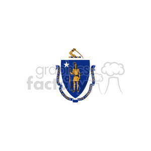 vector-state-Flag-of-Massachusetts clipart. Royalty-free image # 384577
