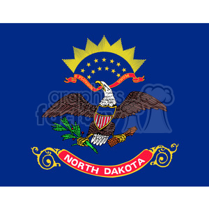 vector state Flag of North Dakota clipart. Commercial use image # 384587